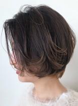 レイヤーショートボブ(髪型ショートヘア)