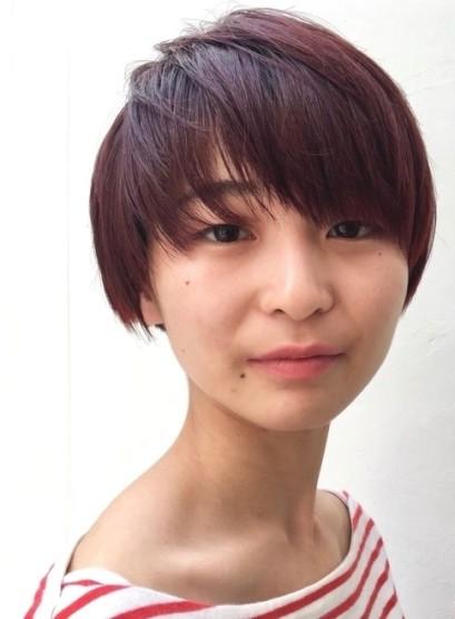 個性的な髪型・赤髪のベリーショート(髪型ベリーショート)