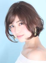 小顔効果☆大人可愛いカールボブ(髪型ボブ)