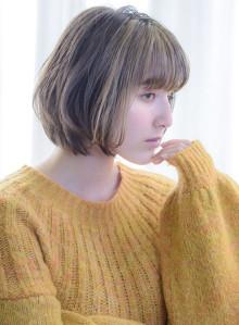 30代40代白髪ぼかしハイライト+ボブ(ビューティーナビ)