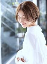 30、40代似合う髪型◎丸顔◎ショート☆(髪型ショートヘア)