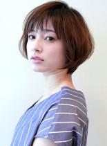 大人女性に人気のひし形ボブ(髪型ショートヘア)