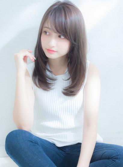 【谷 賢二】艶髪ヌーディカラー(髪型ロング)