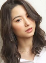 バイオレットアッシュ☆大人セミロング(髪型セミロング)