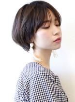 大人のひし形ショートボブ(髪型ショートヘア)