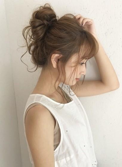 ふわふわお団子スタイル(髪型セミロング)
