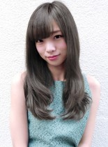 カット+ハーフブリーチ(髪型ロング)