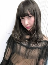 カット+ハーフブリーチ(髪型ミディアム)