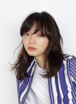 ミックスパーマミディ(髪型ミディアム)