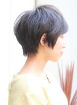 ニュアンスベリーショート(髪型ショートヘア)