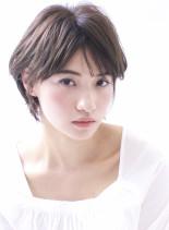 ☆大人の曖昧なセンターパートショート☆(髪型ショートヘア)