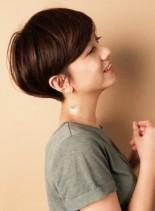 ☆丸みを残したスタイリング簡単ショート☆(髪型ショートヘア)