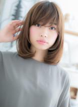 小顔ミディ(髪型ミディアム)