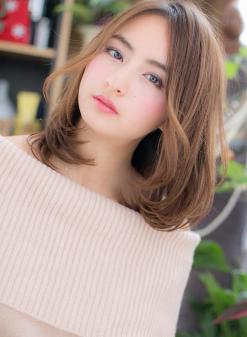 ミディアム】グラマラスセミディで女度UP!/COVER HAIR bliss