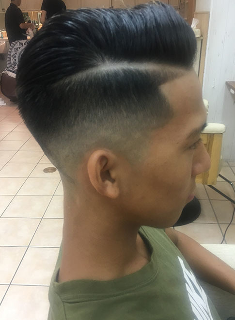 メンズ】外国人風ラインツーブロックミクロ刈り上げ/VIRGOの髪型