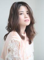 40代50代 篠原涼子風セミロング(髪型セミロング)