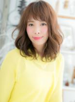 エアウェーブのAラインシルエット(髪型ミディアム)
