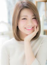横顔美人の♪色っぽシンプルミディ(髪型ミディアム)