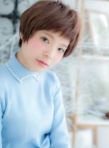 ピンクカラー★ガーリーショート(髪型ショートヘア)