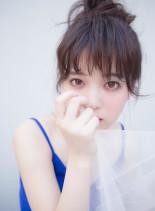 低温デジタルパーマ×ほつれお団子スタイル(髪型ミディアム)