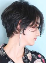 30代40代★大人の上質ショートボブ(髪型ショートヘア)