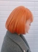 オレンジボブ!!(髪型ボブ)