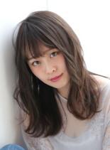 ふんわりニュアンスカール☆(髪型セミロング)