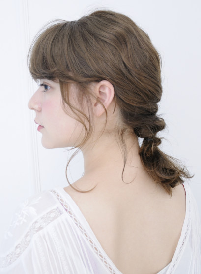 さくっと簡単アレンジ☆(髪型セミロング)
