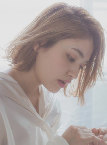 【MINX清水】ハイ透明感×透けボブ