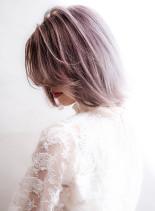 ★ホワイトパープル!外国人風カラー★(髪型ボブ)
