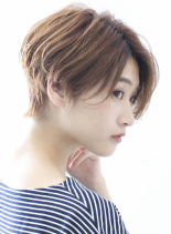 ☆大人のゆるくカールしたショートヘア☆(髪型ショートヘア)