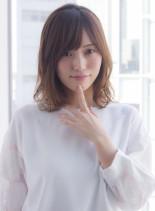 大人可愛い低温デジタルパーマミディアム(髪型ミディアム)