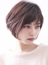 ☆前髪のある大人の前下がりショートボブ☆(髪型ショートヘア)