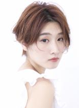 ☆大人の先はねショートボブ☆(髪型ショートヘア)