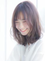 大人女子のほつれパーマミディアム(髪型ミディアム)