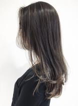 シルキーハイライト(髪型セミロング)