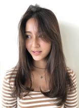 外国人風ナチュラルロング(髪型ロング)
