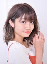 大人可愛い☆ラフウェーブミディ(髪型ミディアム)