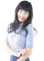 ふんわりパーマスタイル(髪型ロング)