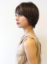 大人の再現しやすいひし形ショート(髪型ショートヘア)