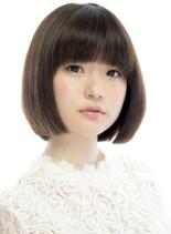 うねり改善自然な丸みの綺麗めボブスタイル(髪型ボブ)