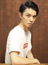 大人のアップバングショート(髪型メンズ)