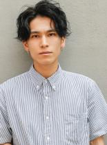 セミウェットクラウドマッシュ(髪型メンズ)