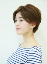 小顔効果ばっちりのおすすめ髪型(髪型ショートヘア)