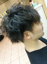 登坂広臣さん風ツーブロックパーマ(髪型メンズ)