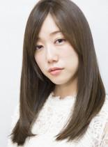 髪質改善縮毛矯正で自然なツヤ髪に(髪型ミディアム)