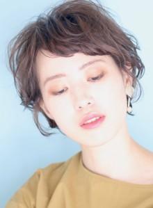 大人のカジュアルパーマ☆ショートボブ(ビューティーナビ)