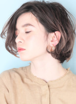 外国人風カラーボブ(髪型ボブ)