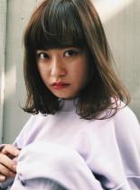 抜け感ワンカールミディ(髪型ミディアム)