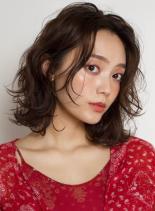 美人ロブウェーブ☆(髪型ミディアム)